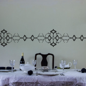 Ornate Vinyl Wall Art Decal Border for Interior Design