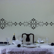 Ornate Vinyl Wall Art Decal Border for Interior Design
