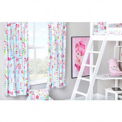 Hello There Design Children's Bedroom Curtains 170cm x 180cm with Tie Backs