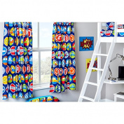 Road Signs Design Children's Bedroom Curtains 170cm x 180cm with Tie Backs
