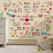 Hello There Design Children's Removable and Repositionable Wall Stickers Nursery Décor Decal Art