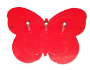 Bony Design Kids coat rack red butterfly (9918-61) - 24 x 18 x 3 cm