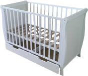 first for babies - Sleigh Cot With Rollaway Drawer
