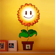 Decorative Wall Lamp Hipkind Sunflower for Children's Bedroom