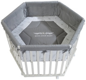 roba Rock Star Baby 2 0232W RS2 Hexagonal Playpen White