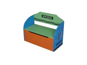 Bebe Style Childrens Wooden Toy Storage Box and Bench (Crayon Themed) ...