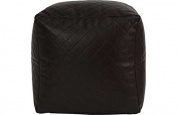 PVC Quilted Beanbag Cube - Chocolate.