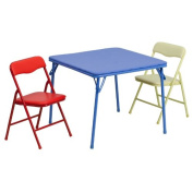 Flash Furniture 3-Piece Kids Colourful Folding Table And Chair Set