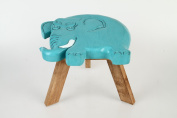 "Children's Solid Wood Stool ""Elephant"""