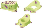 Set of 3 Hippo Potty Toilet Seat Adapter Stool Toilet Trainer Green
