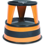 Cramer 100130 - Kik-Step Two-Step Steel Step Stool, 14 high, 230kg Duty Rating, Orange