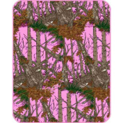 The Woods Hunting Camouflage, Lavender Minky Baby Blanket
