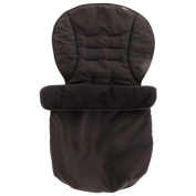 Essential baby Footmuff Black for pushchair prams and stroller
