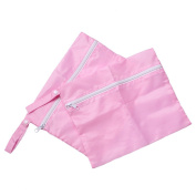 2pcs Baby Stroller Buggy Pushchair Travel Organiser Nappy Storage Bag Pink