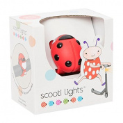 Scooti Lights Red with Black Spots
