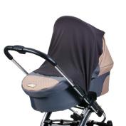 Diago UK Exclusive - Stroller, Pram Car seat Shade and Snooze Cloth Ebony