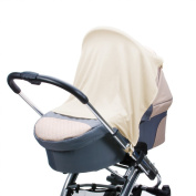 Diago UK Exclusive - Stroller, Pram Car seat Shade and Snooze Cloth Ivory