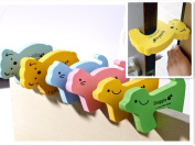 SwirlColor 6 Pieces Of Lovely Children Safety Finger Pinch Cartoon Animal Baby Safety Door Protector Stopper Kids Door Jammer Door Stop Guard Set