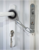 Secure-Ring Universal Door Security Chain