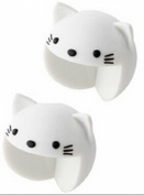 Masingo Baby Animal Furniture Corner Safety Bumper Corner Protector Guard Set of 2 White Cat