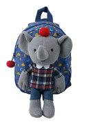 Blue Elephant Toddler Harness & Backpack with Removable Toy