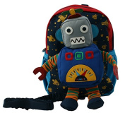 Robot Toddler Harness & Backpack with Removable Toy