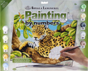 Royal Langnickel Junior LARGE Paint By Numbers Art Kit - Leopard Design 8+