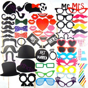 58pcs Photo Booth props For Christmas Wedding Birthday Party