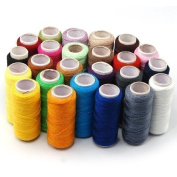 Accessotech 24 Colour Spools Finest Quality Sewing All Purpose 100% Pure Cotton Thread Reel