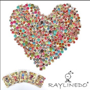 RayLineDo® 500pcs Buttons- Mixed Colours of Various Plain Round DIY Buttons for Sewing and Crafting With 5 Free Random Raylinedo Ant Hero Buttons