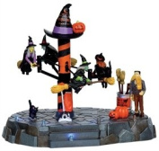 2011 Spooky Town Broom Dealership Animated Halloween Table Accent