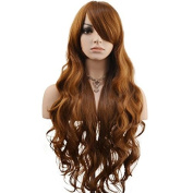 DAOTS 80cm Cosplay Wigs Long Hair Heat Resistant Curly Wave Hairs for Women