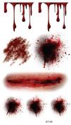Supperb® Temporary Tattoos - Bleeding Wound, Scar Halloween Halloween Tattoos