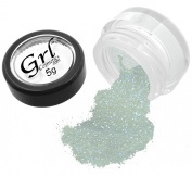 Grl Cosmetics Cosmetic Glitter Makeup for Face, Eyes, Lips, Nails and Body - GL79 Nova White, 5 Gramme Jar