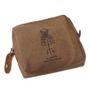 Buytra Classic Retro Canvas Purse Wallet Coin Bag Pouch Case