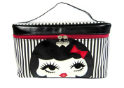 Fluff Tokyo Love Doll Face Retro Girl Large Train Makeup Case