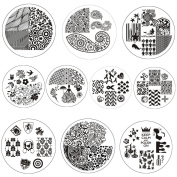 BornPretty 10 Pcs BP21-30 Nail Art Stamping Plate Stamp Template Image Plates