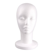 Male Styrofoam Foam Head Display Mannequin Wig Glasses Hat Manikin Model Stand