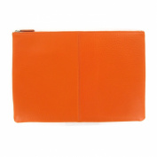 Large Pouch - Full Grain Leather - Orange