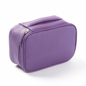 Small Utility Bag - Full Grain Leather - Grape