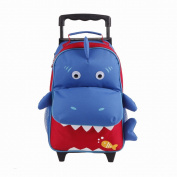 Yodo Playful 3-Way Kids Luggage and Toddler Backpack, Large Front Quick Access Pouch for Snacks or Knickknacks, Kids Age 3+, Shark