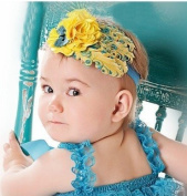 Kk 100 Baby Headbands Cute Chiffon Flower and Feather Hair Accessories(1pc)