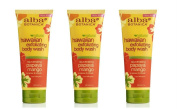 Alba Alba Botanica Body Wash, Hawaiian, Papaya Mango , 210ml pack of 3