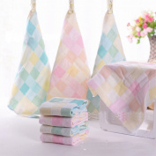 6 Pieces Ultra Soft Cotton Baby Handkerchief Newborn Infant Gauze Bath Shower Cloths Towels Bibs,100% Cotton