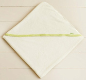 Bamboosa - Luxury Hooded Baby Towel - Plush Terrycloth Fabric - Super Soft Viscose from Organic Bamboo - Purely Natural w/Sprout Green Trim