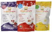 Organic Baby Food Happy Yogis Yoghurt Snacks - Banana Mango, Mixed Berry, and Strawberry 30ml