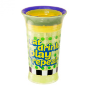 Sassy Spoutless Slogan Grow Up Cup, Eat Drink Play Repeat, 270ml
