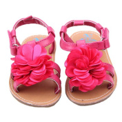 Elee Baby Girls Non Slip Warp Ankle Sole Faux Leather Crib Shoes Sandals