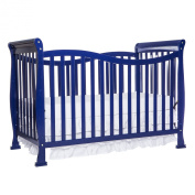 Dream On Me Violet 7-in-1 Convertible Life Style Fixed Side Crib, Royal Blue