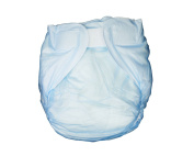 Haian Adult Incontinence AIO Velcro PVC Nappies Colour Transparent Blue